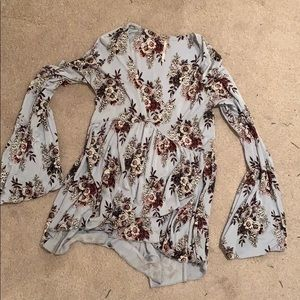 Free people cotton bell sleeve top